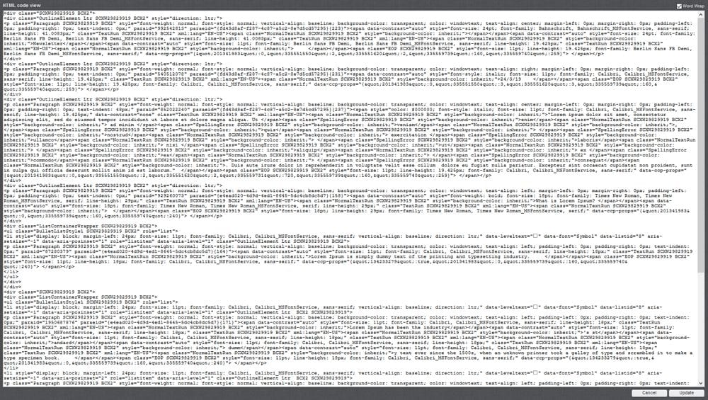 Incomprehensible mass of HTML source code