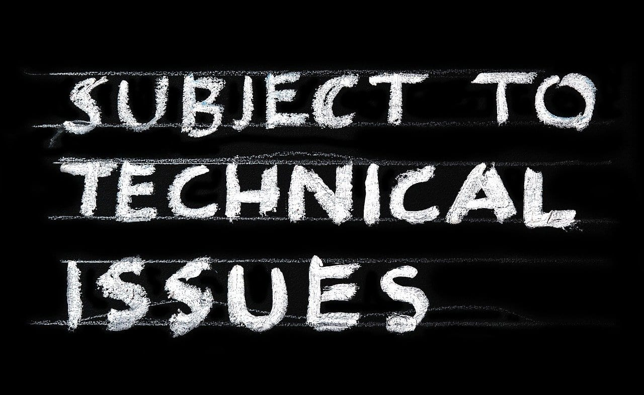 A poster displaying 'Subject to Technical Issues'