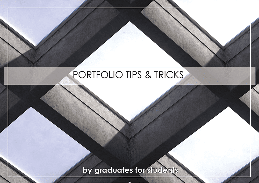 Portfolio Advice Tips And Rules Of Thumb For The Architecture