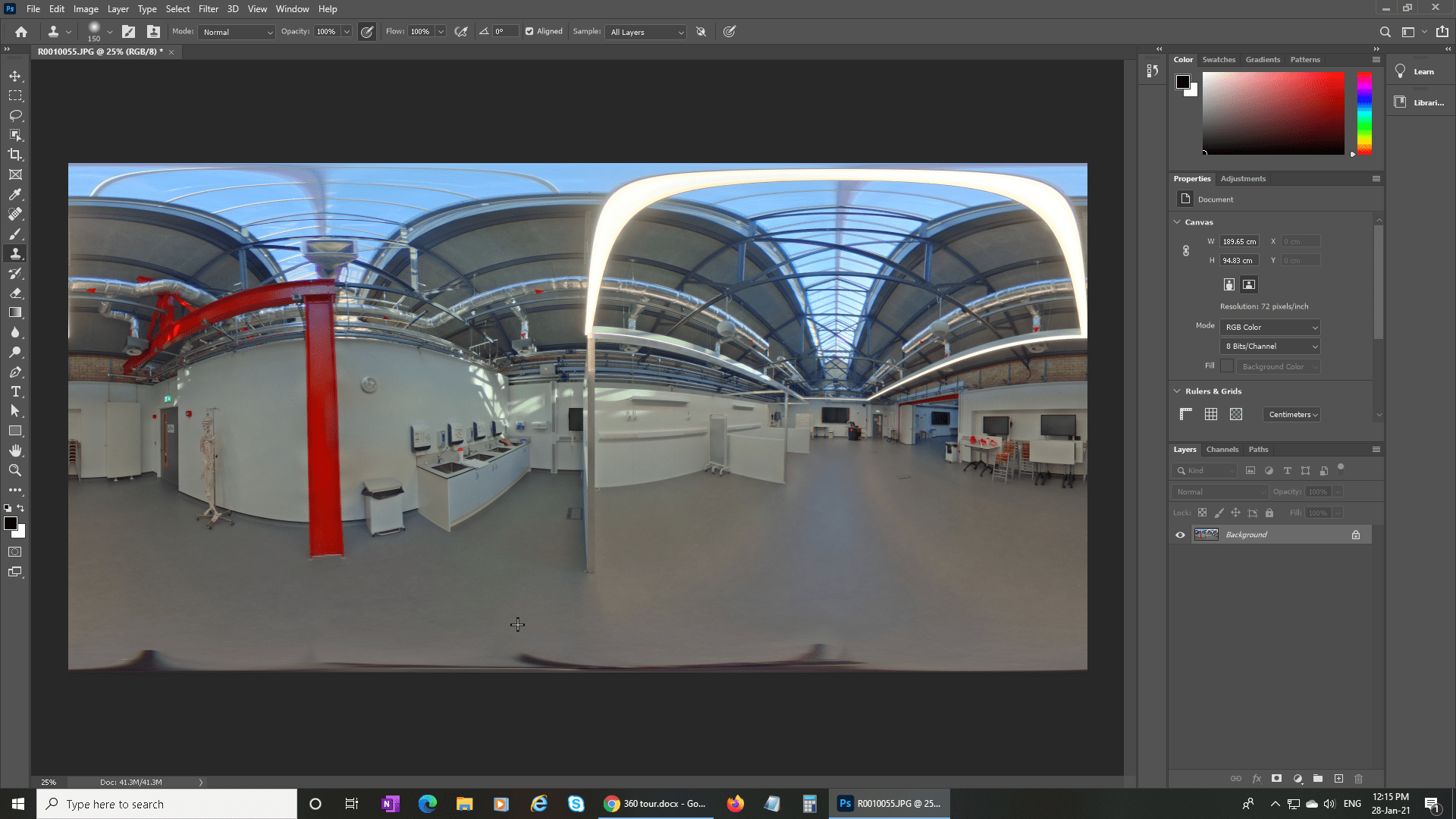Some basic exposure adjustment and colour correction in Photoshop